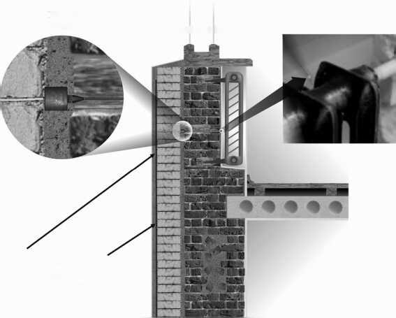 Схема установки микрофона со звуководом во внешнюю стену посольства