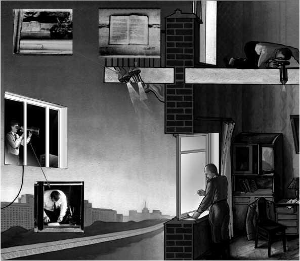 Схема фотодокументирования действий Пеньковского